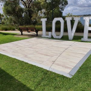 white dance floor hire Perth