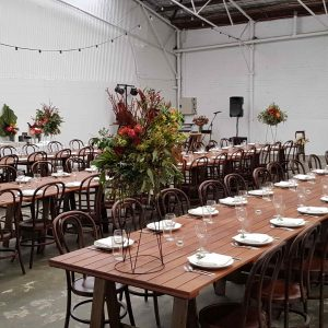 Rustic table hire Perth
