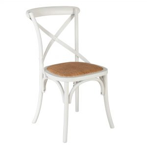 White Crossback chair hire
